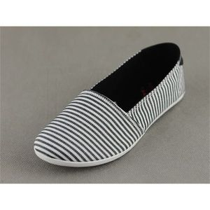 Adidas Striped Canvas Slip Ons 6.5